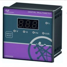 Digital Multimeter 1 Display, 230/400VAC,  V + A + HZ + KVA + H