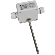 Duct or immersion temperature sensor with protocol
