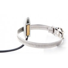 Strap-on temperature sensor with cable