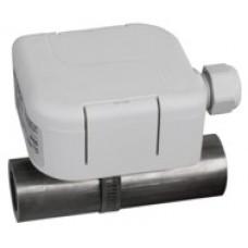 Strap-on temperature sensor with plastic head